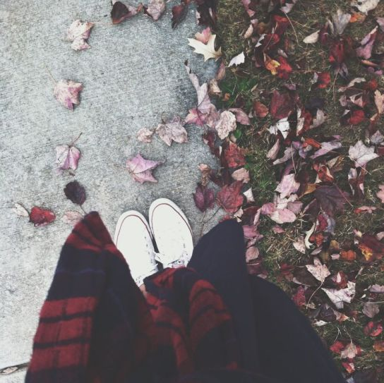 feet in autumn