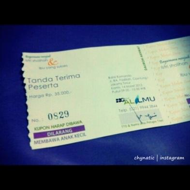 tiket daurah muslimah..