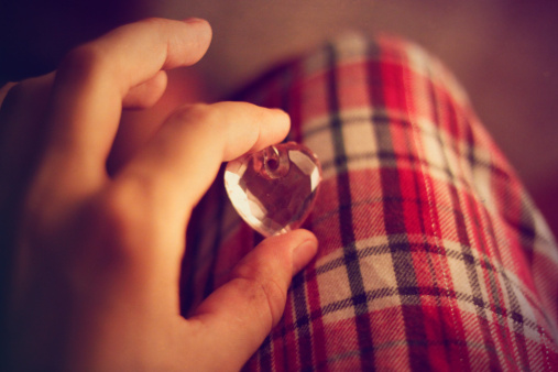 crystal shaped heart