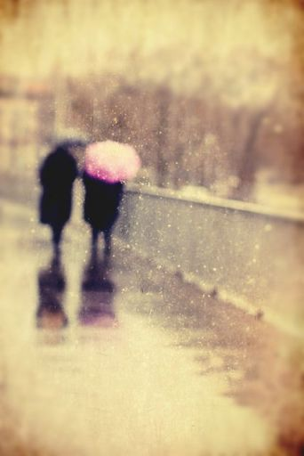 couple in rain..