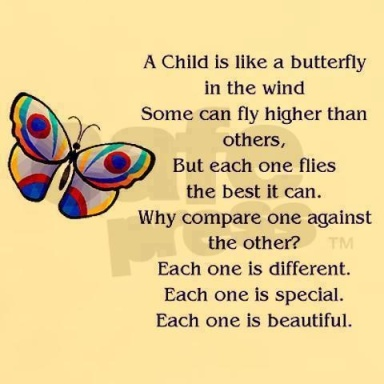child is like a butterfly..