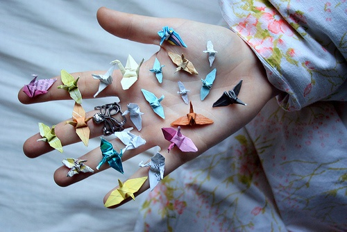 coloured paper crafts