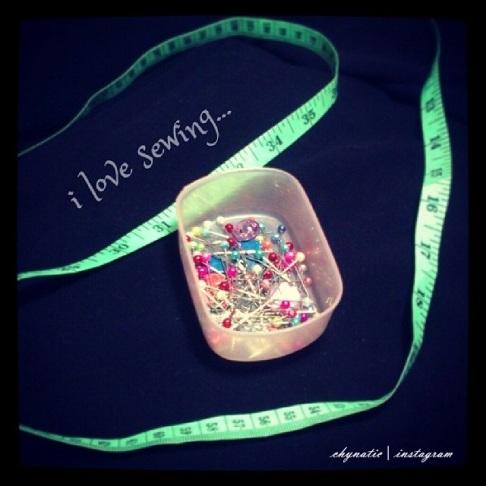 i love sewing~