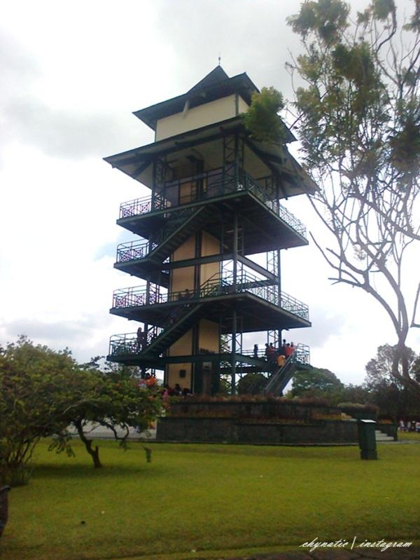 menara pandang dari kejauhan