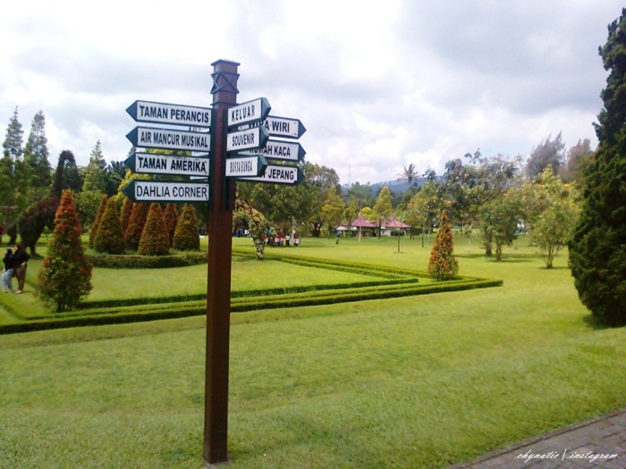 papan penunjuk taman