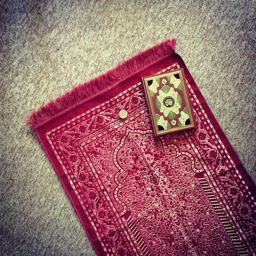 quran and prayer mat