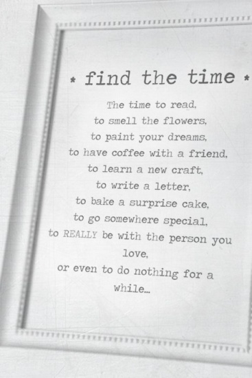 find your time