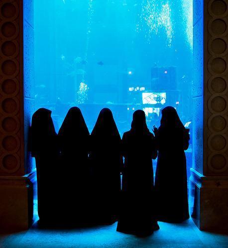 ladies in black hijab