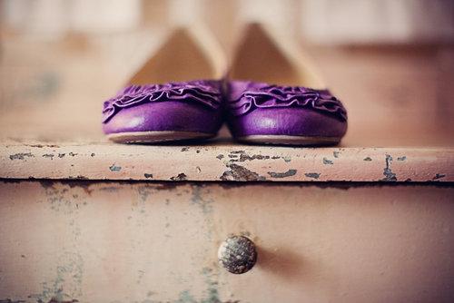 violet shoes