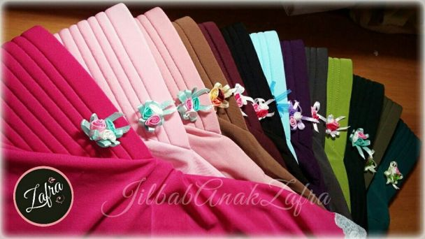jilbab zafra ready stock