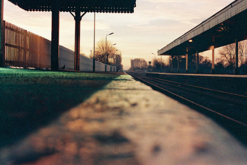 train station in the morning