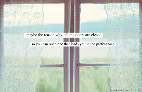 closed doors..