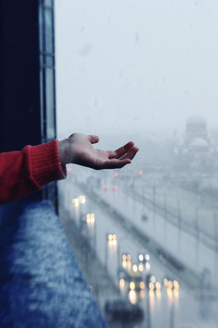 feeling raindrops