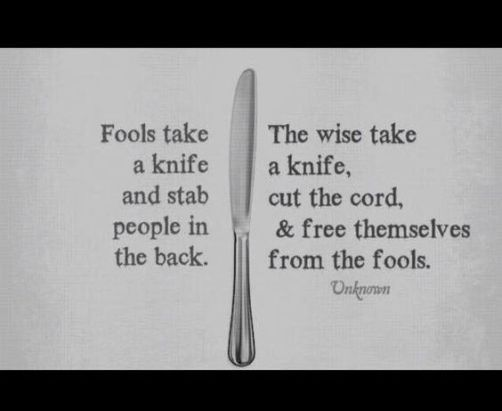 take a knife