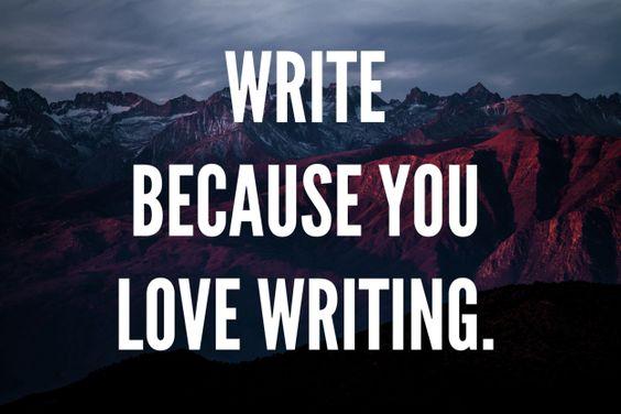 write bcoz..