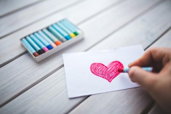 heart crayon